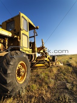 Old Grader in Field