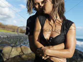 Attractive Young Couple Embracing