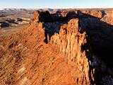 Crag and Canyon in Desert