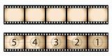 Sepia film strip and countdown