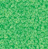 Green seamless easter background