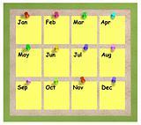 Months notice board
