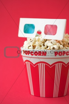 3D glasses & a bucket of popcorn