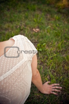 sitting in the grass