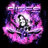 Discoteque Night Background with DJ Shape and Magic Atmosphere