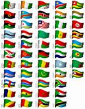 wavy african flags set