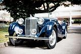 Classic blue retro car
