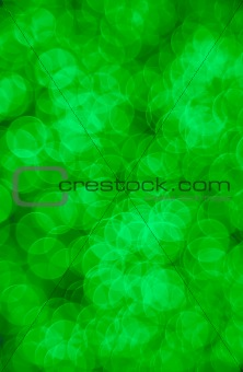 Green abstract lights
