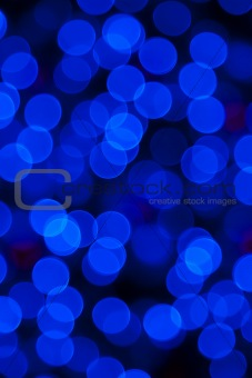 Blue abstract lights