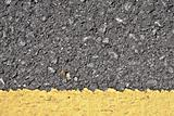 Asphalt texture with yellow line