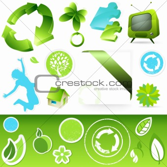 Green Icon buttons