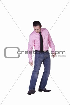 Casual Man Selecting A Pair of Shoes