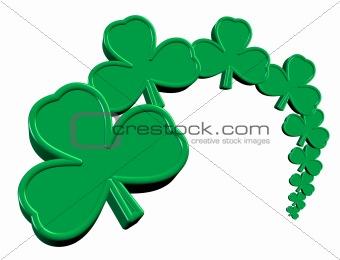 3D Saint Patrick's Day Clover