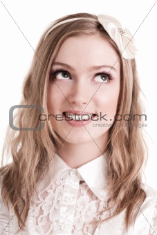 Attractive Young Woman Smiling. Isolated