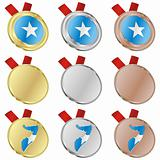 somalia vector flag in medal shapes