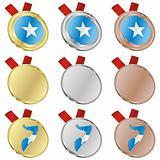 somalia vector flag in medal shapes