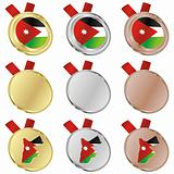 jordan vector flag in medal shapes