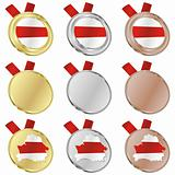 belarus vector flag in medal shapes