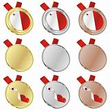 malta vector flag in medal shapes