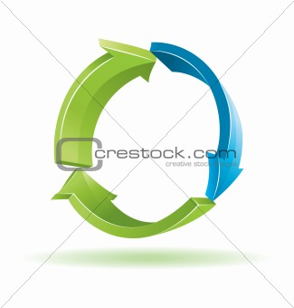 Environmental 3d vector symbol