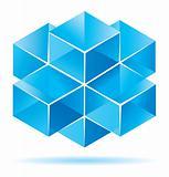 Blue cube design