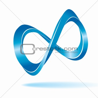 Abstract infinity symbol.