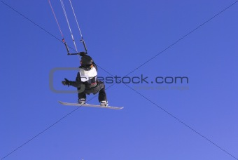 kiter on blue sky