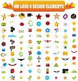 Collection of 100 design elements.
