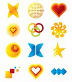 Vector colorful symbols