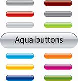 Aqua vector buttons