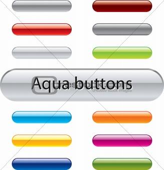 Aqua vector buttons