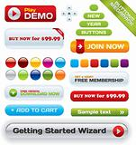 Vector business buttons mega-pack