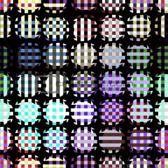 woven color lines dots
