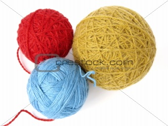three wool balls