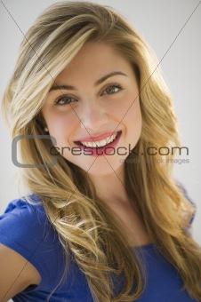 portrait, of beautiful blonde female