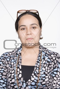 Portrait of Mid Adult Woman. Isolated.