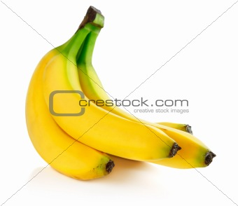 fresh banana fruits isolated on white
