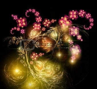 Fairy-tale luminous bouquet