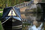 narrow boat on grand union canal