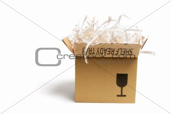 Box of Paper Shreddings