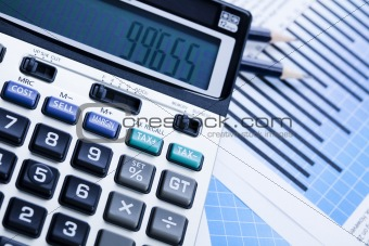 Calculator and diagram