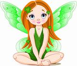 Little cute green fairy for St. Patricks Day
