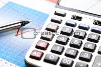 Calculator and diagram