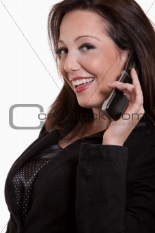 Attractive thirties caucasian businesswoman