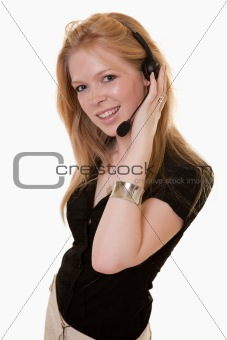 attractive twenties caucasian telecommunications worker