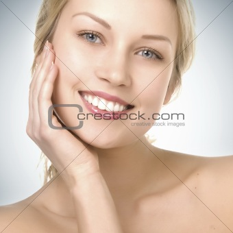beautiful girl with pretty smile
