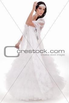 Beautiful bride full length
