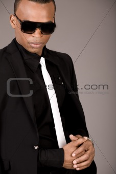 Portrait of young african business man in formal clothing
