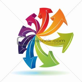 3d arrows symbol