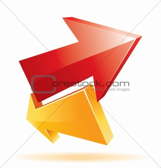 Cool 3d vector arrow